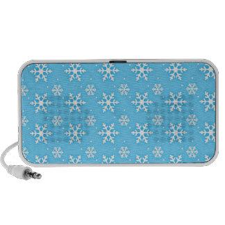 Snowflake print portable speaker