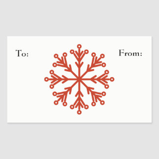 Snowflake Rectangular Sticker