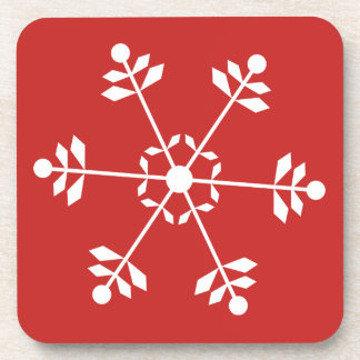 Snowflake Red Coaster