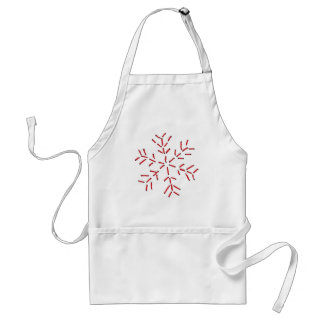 Snowflake - Red Stitches Aprons
