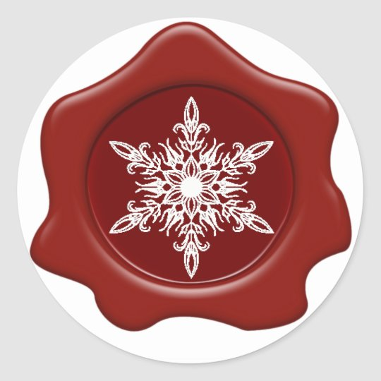 Snowflake Red Wax Seal Stickers