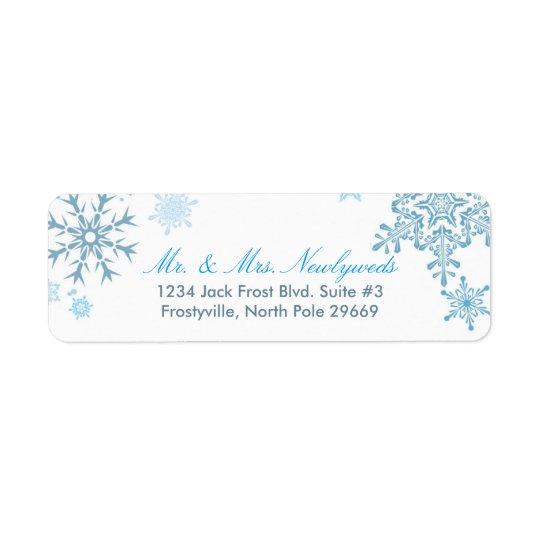 Snowflake Return Address Labels (Malibu Silver)