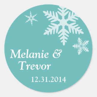 Snowflake Round Sticker