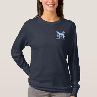 Snowflake Saluki Embroidered Shirt (Long Sleeve)
