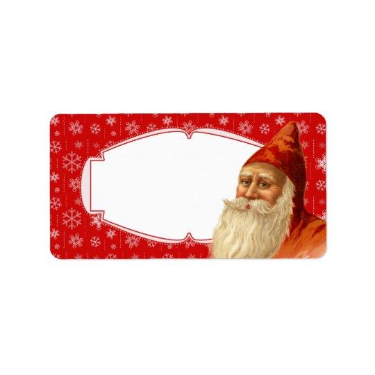 Snowflake Santa Christmas Gift Tags / Mailing Labe