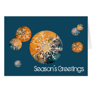 Snowflake Season's Greetings Card