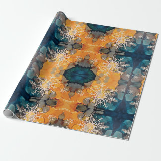 Snowflake Season's Greetings Wrapping Paper