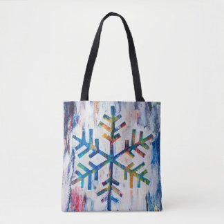 SNOWflake Series Tote Bag by MaryLea Harris