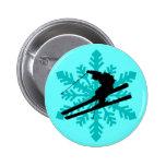 snowflake skiing button