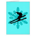 snowflake skiing card