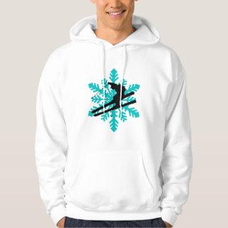 snowflake skiing hoodie