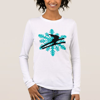 snowflake skiing long sleeve T-Shirt