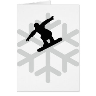 snowflake snowboarder icon greeting card