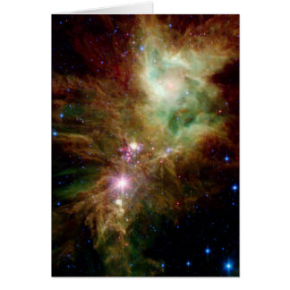 Snowflake Star Cluster Space NASA Card