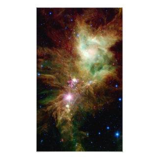 Snowflake Star Cluster Space NASA Photographic Print