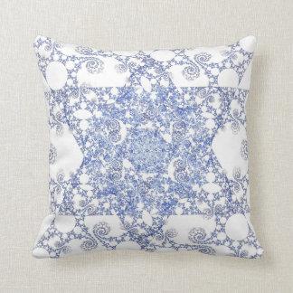 Snowflake Star of David Pillow