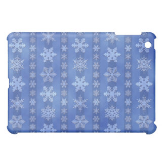 Snowflake Stripes - Blue Case For The iPad Mini