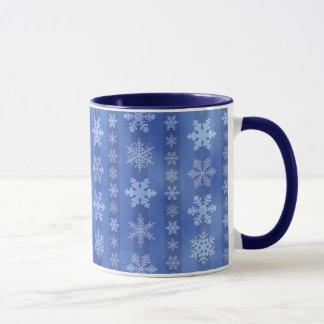 Snowflake Stripes - Blue Mug