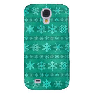 Snowflake Stripes - Green Samsung Galaxy S4 Case