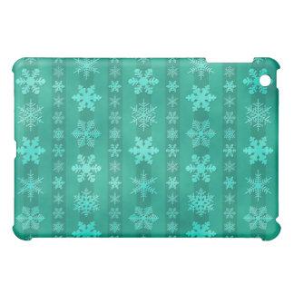 Snowflake Stripes - Green iPad Mini Case