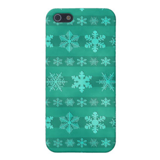 Snowflake Stripes - Green Covers For iPhone 5