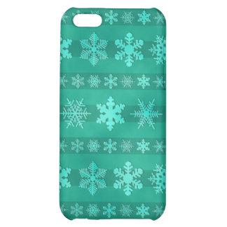 Snowflake Stripes - Green iPhone 5C Case