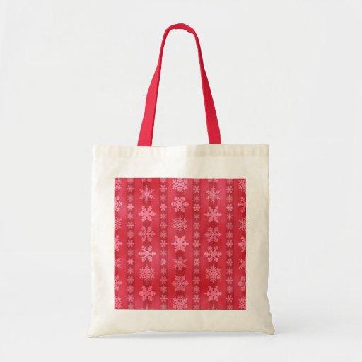 Snowflake Stripes - Red Bag