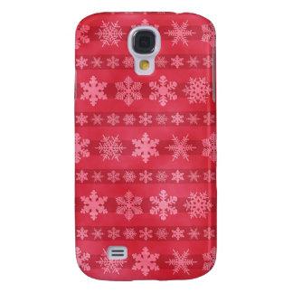 Snowflake Stripes - Red Samsung Galaxy S4 Case
