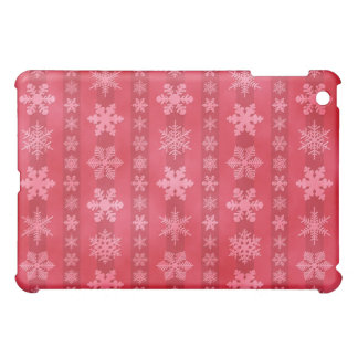 Snowflake Stripes - Red iPad Mini Covers