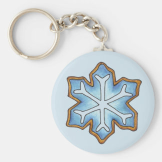 Snowflake Sugar Cookie Winter Hanukkah Christmas Key Ring