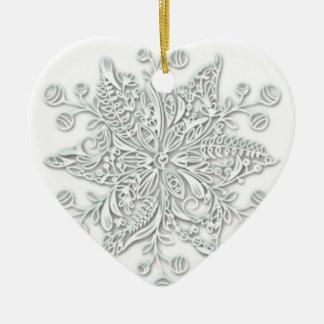 Snowflake Swirl Christmas Ornament