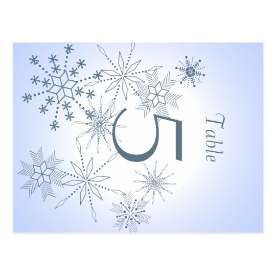 Snowflake Table Number Postcard