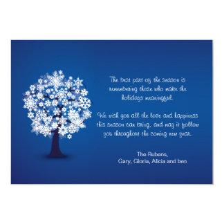 Snowflake Tree Holiday Card 13 Cm X 18 Cm Invitation Card