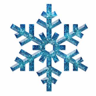 Snowflake Tree Ornament Photo Sculpture Decoration
