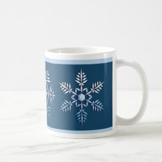 Snowflake Trio Christmas Mug
