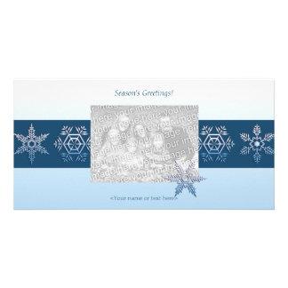 Snowflake Trio Photo Card