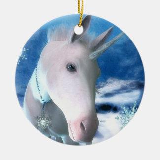 Snowflake Unicorn Ornament