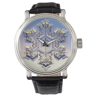 Snowflake Vintage Leather Strap Watch