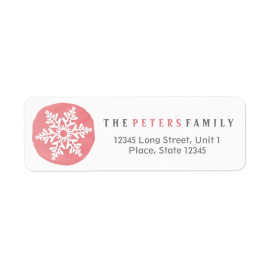 Snowflake Watercolor Girl | return Address Labels