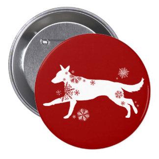 Snowflake White German Shepherd Dog 7.5 Cm Round Badge