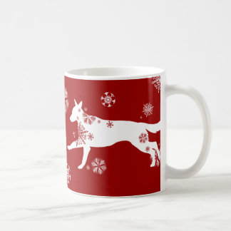 Snowflake White German Shepherd Dog Coffee Mug