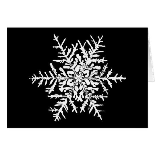 Snowflake Wilson Bentley Xmas Card