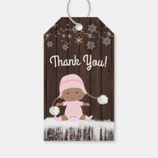 Snowflake Winter Baby Shower Favor Gift Tags