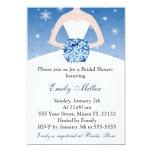 "Snowflake Winter Bridal Shower Invitation Wedding 5"" X 7"" Invitation Card"