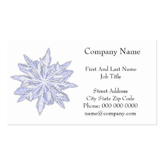 Snowflake Winter Holiday Pencil Drawing Business Card Template
