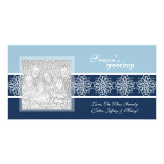 Snowflake Winter Holiday Photo Cards