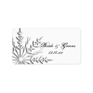 Snowflake Winter Wedding Favor Tag Address Label