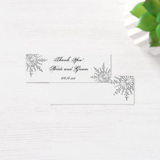 Snowflake Winter Wedding Favor Tags