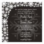 Snowflake Winter Wedding Invitation