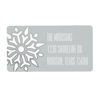 Snowflake Wishes Label Shipping Label
